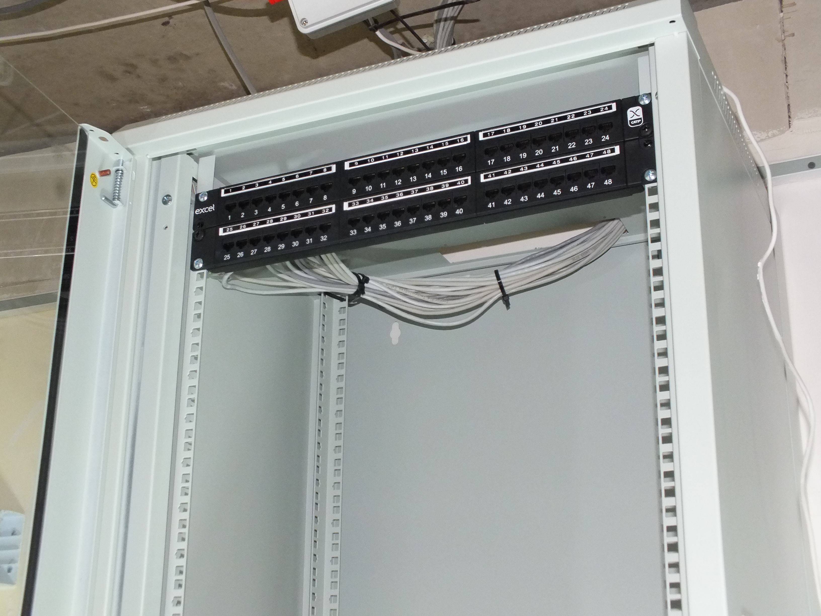 Data Cabinet and Patch Panel Installation